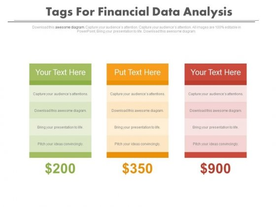 Tags For Financial Data Comparison Powerpoint Slides