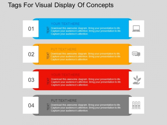 Tags For Visual Display Of Concepts Powerpoint Templates