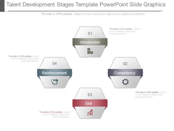 Talent Development Stages Template Powerpoint Slide Graphics