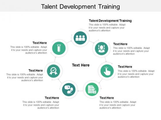 Talent Development Training Ppt PowerPoint Presentation Inspiration Master Slide Cpb