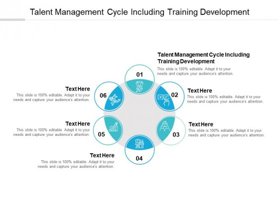 Talent Management Cycle Including Training Development Ppt PowerPoint Presentation Inspiration Themes Cpb