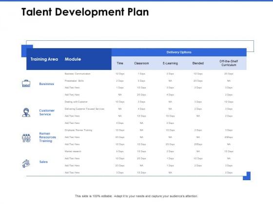 Talent Management Systems Talent Development Plan Ppt File Introduction PDF