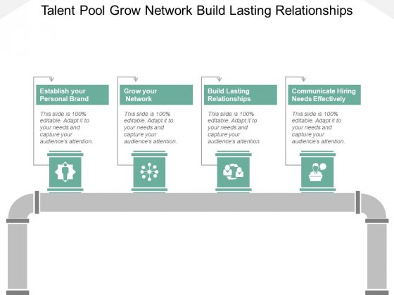 Talent Pool Grow Network Build Lasting Relationships Ppt PowerPoint Presentation Summary Background
