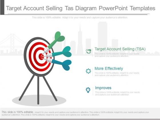target account selling tas diagram powerpoint templates powerpoint