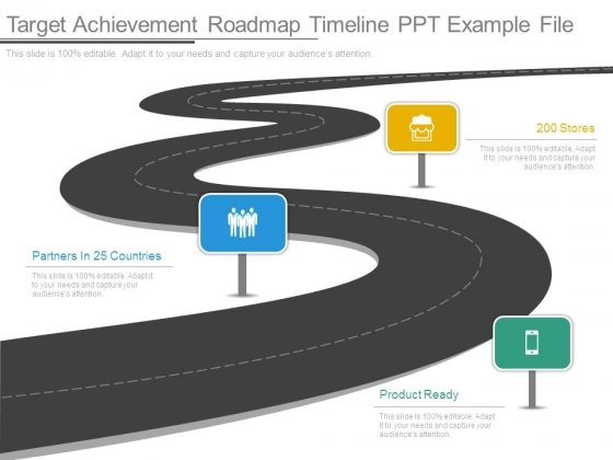 Target Achievement Roadmap Timeline Ppt Example File