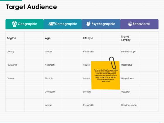 Target Audience Demographic Ppt Powerpoint Presentation Inspiration Graphics Design