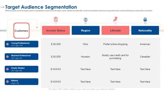 Target Audience Segmentation Ppt Slides Icon PDF