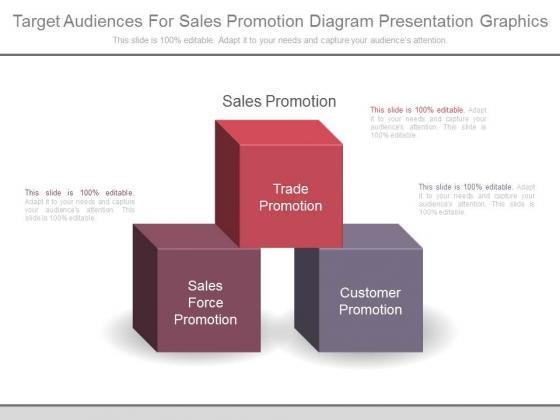 Target Audiences For Sales Promotion Diagram Presentation Graphics