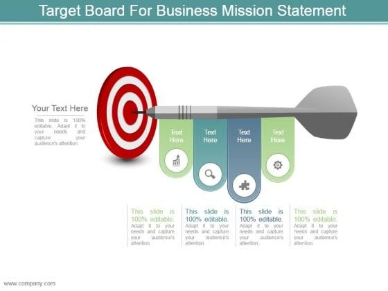 Target Board For Business Mission Statement Ppt Design