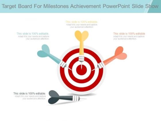 Target Board For Milestones Achievement Powerpoint Slide Show
