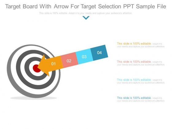 Target Board With Arrow For Target Selection Ppt Sample File