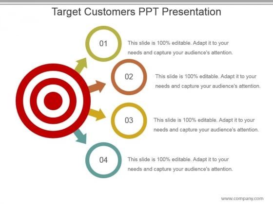 Target Customers Ppt Presentation