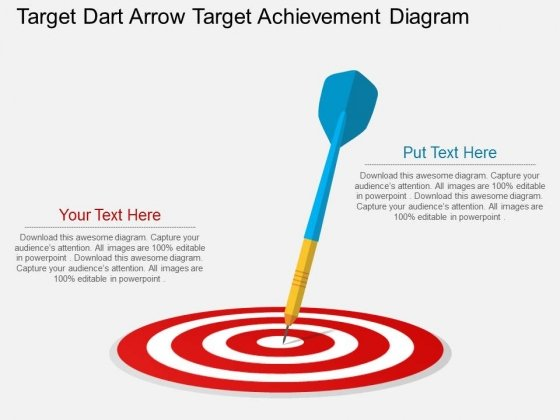 Target Dart Arrow Target Achievement Diagram Powerpoint Template