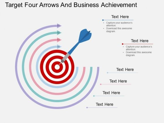 Target_Four_Arrows_And_Business_Achievement_Powerpoint_Template_1