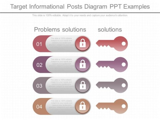 Target Informational Posts Diagram Ppt Examples
