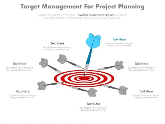 Target Management For Project Planning Powerpoint Slides