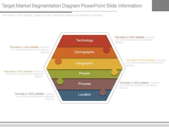 Target Market Segmentation Diagram Powerpoint Slide Information