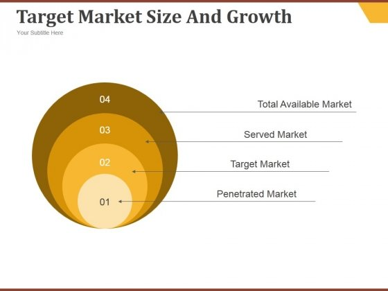 Target Market Size And Growth Ppt PowerPoint Presentation Information