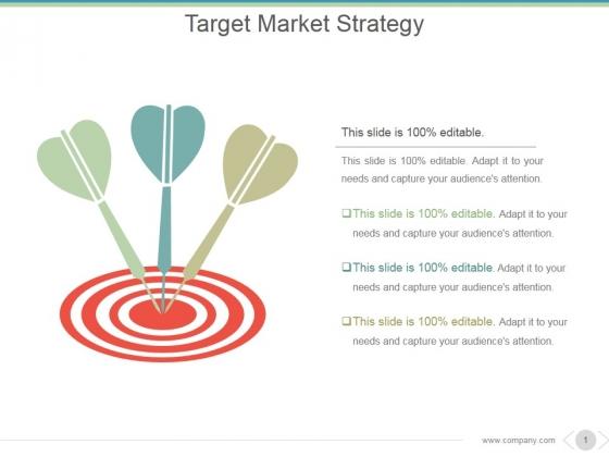 Target Market Strategy Ppt PowerPoint Presentation Inspiration
