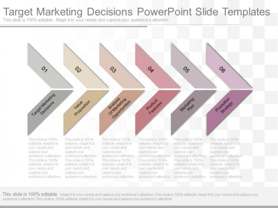 Target Marketing Decisions Powerpoint Slide Templates