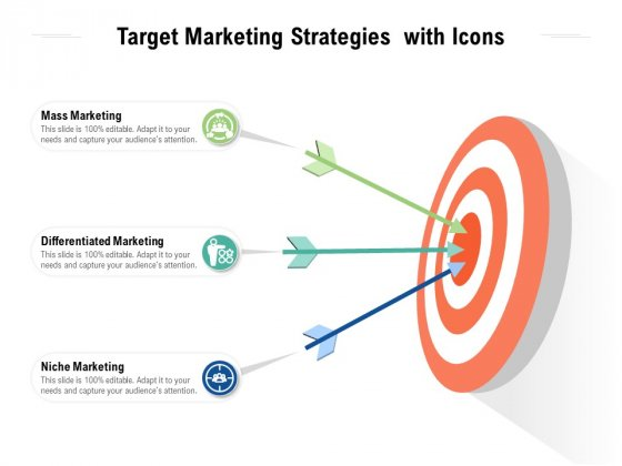 Target Marketing Strategies With Icons Ppt PowerPoint Presentation Layouts Objects PDF