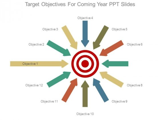 Target Objectives For Coming Year Ppt Slides