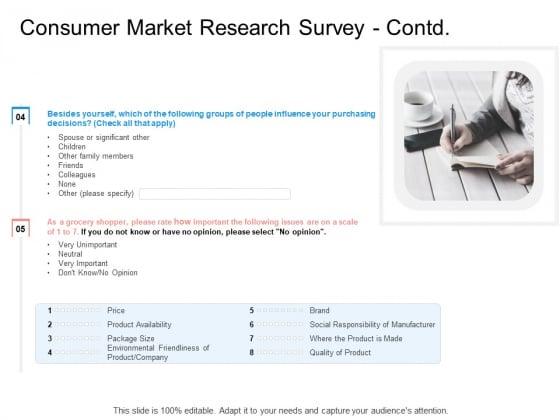 Target Persona Consumer Market Research Survey Contd Ppt Outline Slide Portrait PDF