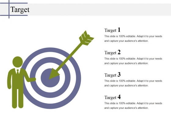 Target Ppt PowerPoint Presentation Show Graphics Template