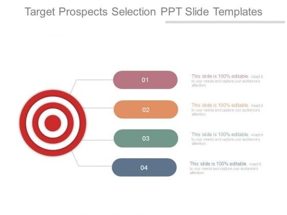 Target Prospects Selection Ppt Slide Templates