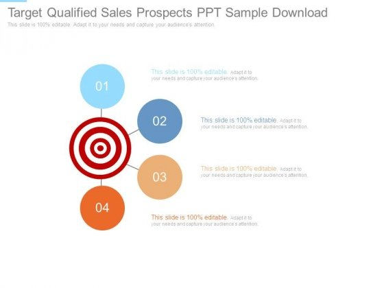 Target Qualified Sales Prospects Ppt Sample Download