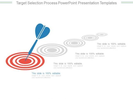 Target Selection Process Powerpoint Presentation Templates