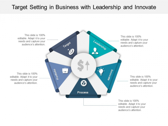 Target Setting In Business With Leadership And Innovate Ppt PowerPoint Presentation Slides Visuals PDF