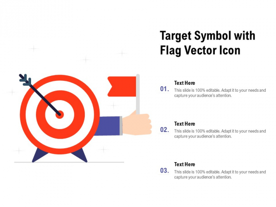Target Symbol With Flag Vector Icon Ppt PowerPoint Presentation File Format PDF