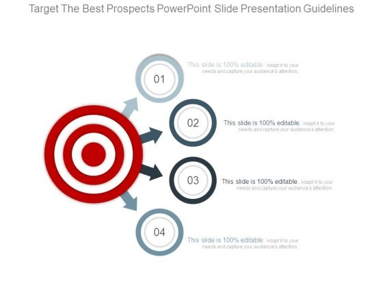 Target The Best Prospects Powerpoint Slide Presentation Guidelines