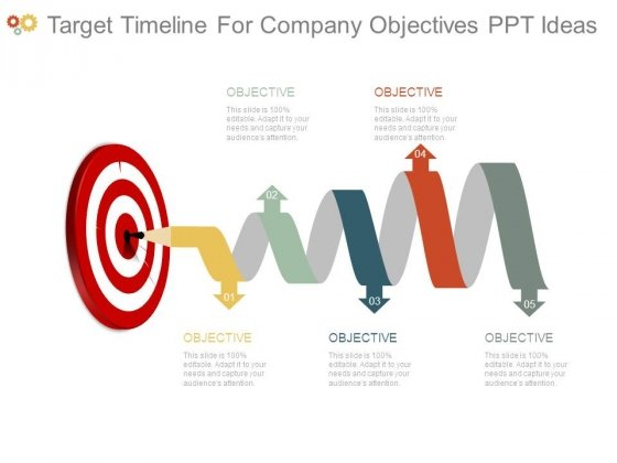 Target Timeline For Company Objectives Ppt Ideas