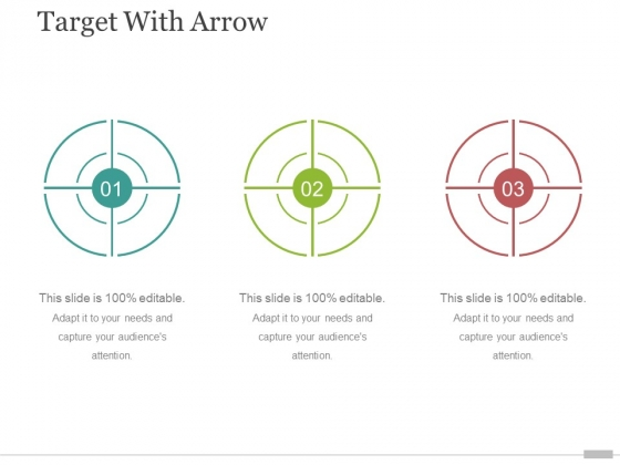 target with arrow ppt powerpoint presentation gallery information