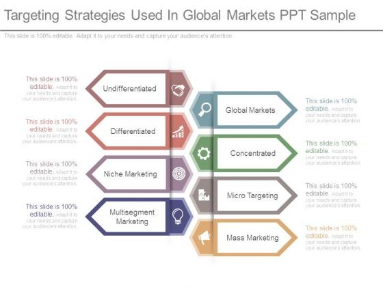 Targeting Strategies Used In Global Markets Ppt Sample