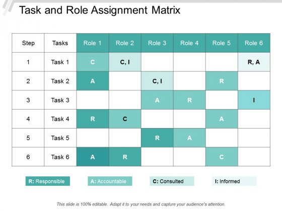 Task And Role Assignment Matrix Ppt Powerpoint Presentation Professional Ideas