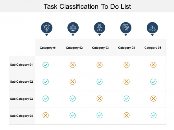 Task Classification To Do List Ppt PowerPoint Presentation Styles Icon