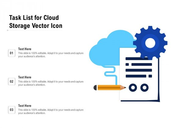 Task List For Cloud Storage Vector Icon Ppt PowerPoint Presentation Inspiration Slide Download PDF