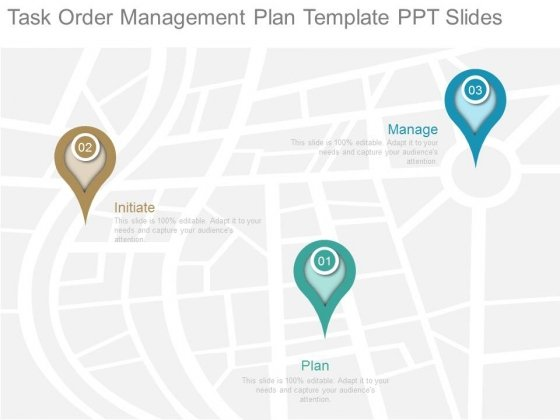 Task Order Management Plan Template Ppt Slides - PowerPoint Templates