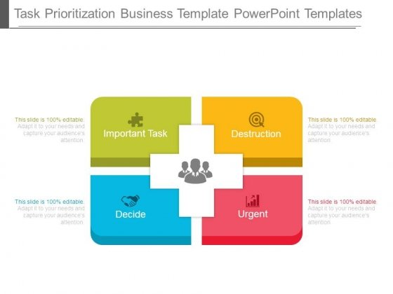 Task Prioritization Business Template Powerpoint Templates