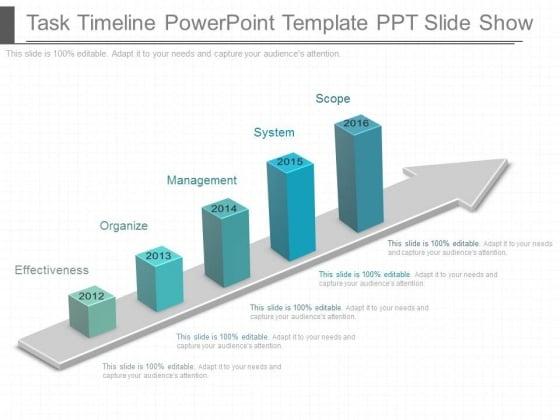 Task Timeline Powerpoint Template Ppt Slide Show