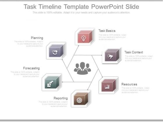 Task Timeline Template Powerpoint Slide