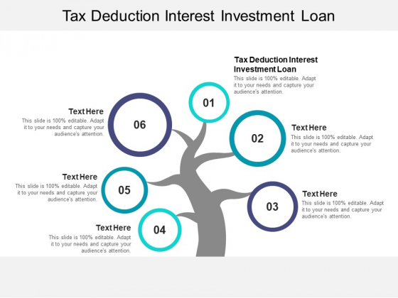 Tax Deduction Interest Investment Loan Ppt PowerPoint Presentation Show Graphics Pictures Cpb Pdf