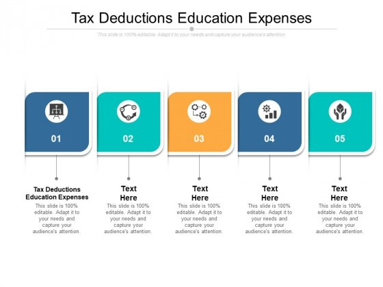 Tax Deductions Education Expenses Ppt PowerPoint Presentation Portfolio Guidelines Cpb Pdf