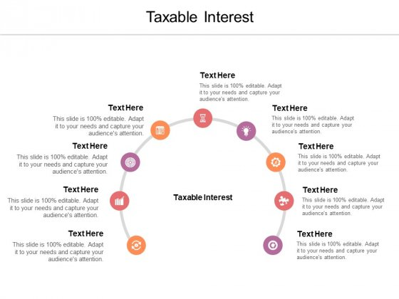 Taxable Interest Ppt PowerPoint Presentation File Visual Aids Cpb Pdf