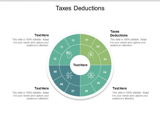 Taxes Deductions Ppt PowerPoint Presentation Professional Slides Cpb