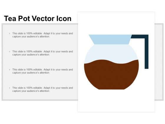 Tea Pot Vector Icon Ppt PowerPoint Presentation Professional Icon