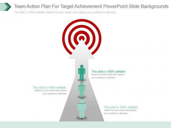 Team Action Plan For Target Achievement Powerpoint Slide Backgrounds